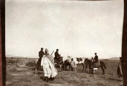 Photo Originale Algérie Française, Colons & Berbères à Chemora (Batna) En Novembre 1912 - Commission Hydrolique Agricole - Métiers
