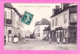 F-27-Etreville-01A86  La Grande Rue, La Poste, Café, Animation, Cpa BE - Other Municipalities