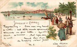 Souvenir De Cannes , Style Gruss , Cachet 1898  France Frankreich Francia - Cannes