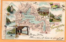 Gruss Vom Vierwaldstatter See Switzerland 1904 Postcard - LU Lucerne