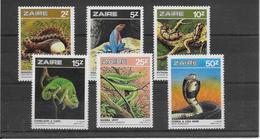 Thème Animaux - Serpents - Grenouilles - Tortues - Zaïre - Neuf ** Sans Charnière - TB - Reptiles & Batraciens