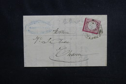 FRANCE / ALLEMAGNE - Lettre De Mulhouse Pour Thann , Affranchissement Plaisant , Oblitération Fer à Cheval - L 52605 - Marcophilie (Lettres)