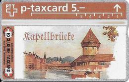Switzerland: PTT KP-93/192 310L Numis - Luzern, Kapellbrücke - Svizzera