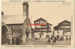 Reconstitution Du Village St-Véran - L'Eglise Et La Place - Saint-Vérand