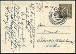1940 Germany Poland Reich WHW-Ganzsache Danzig. Koln - Germany