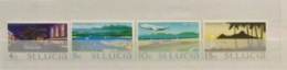 St. Lucia 1975 Sg 395-8 Sescenes Defs With W14 Sideways Watermark Set MNH - St.Lucia (...-1978)