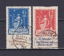 Deutsches Reich - 1922 - Michel Nr. 233/234 - Gest. - 60 Euro - Gebraucht