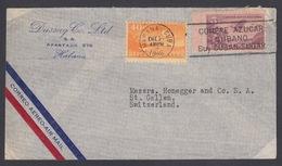CUBA. CARTA ENVIADA A SUIZA DESDE LA HABANA. 1946 - Cartas