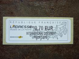 2010  LISA2  L'adresse Musée De La Poste  INTERNATIONAL DOCUMENT PRIORITAIRE  0,70€ (vendue à La Faciale) ** MNH - 2010-... Illustrated Franking Labels