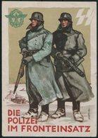 1942 Germany DR Propagandakarte Iglau Tag Der Deutschen Polizei, Die Polizei Im Fronteinsatz Postcard. Bohemia Moravia - Germany