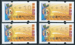 MACAU ENERGY SAVING 2002 ATM LABELS BOTTOM SET (4.50PAT TONED ON TOP LEFT CORNER) - 1999-... Chinese Admnistrative Region