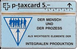 Switzerland: PTT KP-93/205C 541L Landis & Gyr - Der Mensch Und Der Prozess - Svizzera