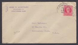 CUBA. CARTA ENVIADA A EEUU DESDE CIENFUEGOS. 1931 - Cartas