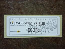 2010  LISA2  L'adresse Musée De La Poste  ECOPLI  0,73€ (vendue à La Faciale) ** MNH - 2010-... Illustrated Franking Labels