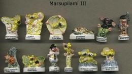 Serie Complete De 12 Feves Marsupilami III - Dessins Animés