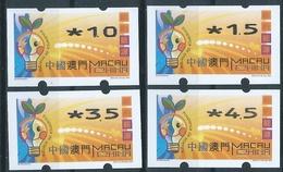 MACAU ENERGY SAVING 2002 ATM LABELS BOTTOM SET NAGLER MACHINE, RARE - 1999-... Chinese Admnistrative Region