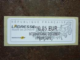 2010  LISA2  L'adresse Musée De La Poste  INTERNATIONAL DOCUMENT PRIORITAIRE  0,85€ (vendue à La Faciale) ** MNH - 2010-... Illustrated Franking Labels