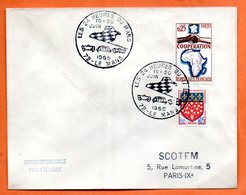 72 LE MANS   LES 24 HEURES  ( Traces )  1965 Lettre Entière N° CD 593 - Marcophilie (Lettres)