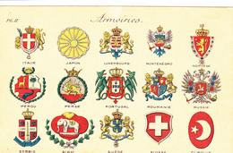844/ Oude Kaart Met Wapens Van Landen, Armoiries - Cartes Postales