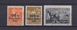 Deutsches Reich - 1923 - Michel Nr. 258/260 - Postfrisch/Ungebr. - Neufs