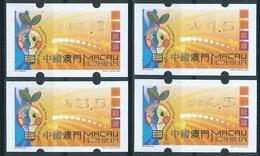 MACAU ENERGY SAVING 2002 ATM LABELS BOTTOM SET NAGLER MACHINE ERROR PRINTING-BROKEN RIBBON (IRON PRINT) RARE - 1999-... Chinese Admnistrative Region
