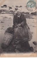 FRANCE 1906 CARTE POSTALE DE TROUVILLE   TYPE DE MOULIERE - Poststempel (Briefe)