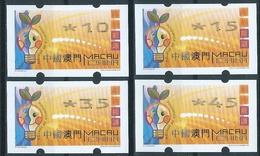 MACAU ENERGY SAVING REPRINT 2006 ATM LABELS BOTTOM SET NAGLER MACHINE W/VAR. VALUE SHIFT RIGHT - 1999-... Chinese Admnistrative Region