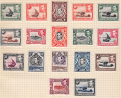 O0048 KENYA, UGANDA & TANGANYIKA 1938, SG 131-47 Definitives,  Mounted Mint - Protettorati De Africa Orientale E Uganda
