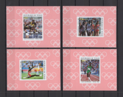 CHAD 1988, Mi# 1166-1169, Imperf, Deluxe Blocks, Olympics - Summer 1988: Seoul