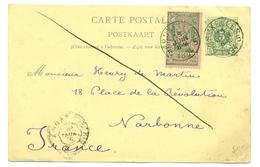 Belgique - Lot De 3 Entiers 5 Centimes + COB68/68A De Bruxelles Vers Rotterdam, Kreuznach Et Narbonne 1894 - 1894-1896 Ausstellungen
