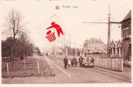 EUGIES - Dépôt (des Tramways électrique) - Carte Animée Par Des Employés De La Compagnie Des Trams) - Frameries