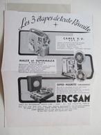 """Premier Tourne Disque  Enregistreur ERCSAM """"Super Magnetic""""  - Coupure De Presse De 1954 - 78 T - Disques Pour Gramophone"""