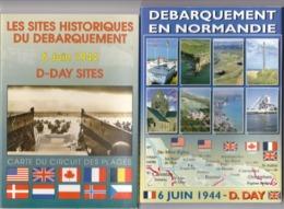 2 CARNETS COMPLET DES  SITES  HISTORIQUES  6 JUIN 1944 DU DEBARQUEMENT - Cartoline