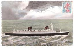 """Le Paquebot """" France""""  En Construction à St Nazaire (44) - Passagiersschepen"""