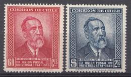 CHILI 1950   Mi.nr. 444-445 Weltpostverein UPU   NEUF Sans CHARNIERE / MNH / POSTFRIS - Chili