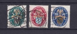 Deutsches Reich - 1925 - Michel Nr. 375/377 - Gest. - 22 Euro - Allemagne
