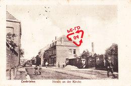 """TENBRIELEN - Strabe An Der Kirche - Avec """"militaire Allemand (casque à Pointe) à Côté De La Guérite"""" Circulé 15-11-1915 - Mouscron - Moeskroen"""