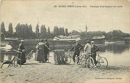 44 BASSE INDRE - PASSAGE D'UNVAPEUR EN LOIRE - Basse-Indre