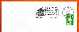 02 REVIN  FETE DU PAIN  1993 Lettre Entière N° BC 327 - Poststempel (Briefe)
