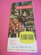 Dépliant Touristique Publicitaire/ESPAGNE/BARCELONA/Hotel Manila/ PLano-Guia / 1958   PGC304 - Tourism Brochures