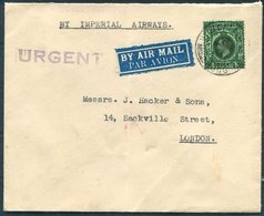 """Hong Kong / GB Imperial Airways Airmail Cover - London. Head Quarters """"A.Q."""" Branch, China Command. British Army - Covers & Documents"""
