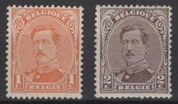 Belgique: 1915 : COB : N° 135/36 **, MNH, TTB/TB Sans Défaut. - 1915-1920 Albert I