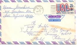 1972 Lettera Da Passaic USA Per Termini Imerese  01 - America Centrale