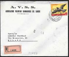 San Marino/Saint-Marin: Raccomandata, Registered, Recommandé. Colombo, Pigeon - Piccioni & Colombe