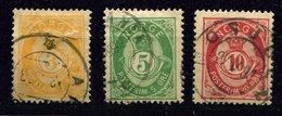 Norvège Ob N° 37 - 38 - 39 - Used Stamps