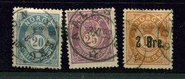 Norvège Ob N° 43 - 44 - 45 - Used Stamps