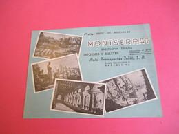 Dépliant Touristique Publicitaire/ESPAGNE/BARCELONA/MONTSERRAT/Auto-Transportes Julia/Circuit Autocar/ Vers 1955  PGC305 - Tourism Brochures