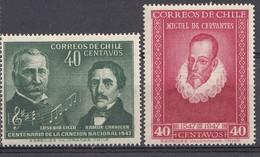 CHILI 1947  Mi.nr. 357-358    NEUF Sans CHARNIERE / MNH / POSTFRIS - Chili
