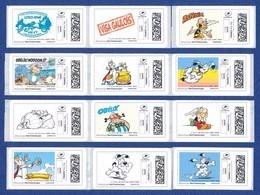 FRANCE ASTERIX 52 étiquettes Autoadhésives Neuves** MonTimbrenligne. Cinéma, Film, Movie. Série1, 2, 3, 4 Et 5. - 2010-... Illustrated Franking Labels