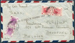 """1947 Hong Kong $1.30 Rate B.O.A.C. Airmail Cover, Belgian Bank - Bruxelles Belgium. """"By Air To Office Of Exchange Only"""" - Hong Kong (...-1997)"""